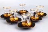 Fantasia Petek Gold Varaklı 6 Kişilik Çay Bardak Takımı