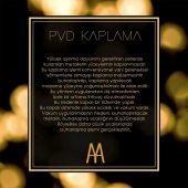 Maya Line PVD Gold Montajlı Diş Fırçalık Buzlu Cam 100 Pirinç-3