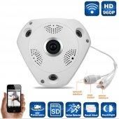 AngelEye KS-607 Panoramik Balık Gözü 360 Derece HD Tavan Tipi  Kablosuz IP Kamera-2