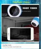 AngelEye KS-513 SD Slot HD Gece Görüşlü Çift Antenli Kablosuz IP Kamera-5