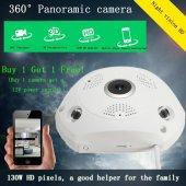 AngelEye KS-607 Panoramik Balık Gözü 360 Derece HD Tavan Tipi  Kablosuz IP Kamera-5