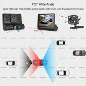 AngelEye KS-526 3 Kameralı Full HD 1080P Araç Video Kaydedici Araç Kamera-5