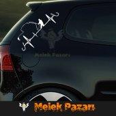 Nabız Atışı Balık Tutan Adam Oto Sticker-2