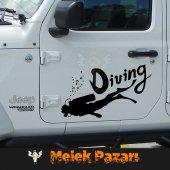 Dalış, Diving Oto Sticker