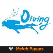 Dalış, Diving Oto Sticker-3