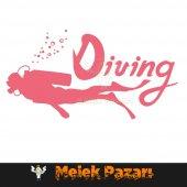 Dalış, Diving Oto Sticker-5