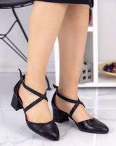 Carey Siyah Cilt Desenli Topuklu Ayakkabı