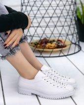 Abbie Beyaz Cilt Oxford Ayakkabı