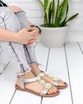 Clare Gold Cilt Sandalet