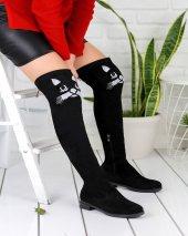 Geomar Siyah Süet Çorap Çizme