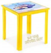 çocuk Masası Resimli H50 3 7 Yaş