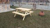 Alaçam Mobilya Piknik Masası 6 Kişilik Natural