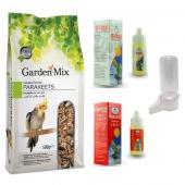 Garden Mix Platin Sultan Cennet Papapağanı Yem Ve Vitamin Seti