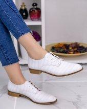 Rosalia Beyaz Cilt Desenli Oxford Ayakkabı