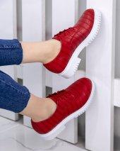 Abbie Kırmızı Cilt Desenli Oxford Ayakkabı-3