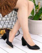 Sedena Siyah Cilt Süet Detaylı Ayakkabı