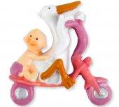Bebek Bisikletli Ve Leylekli Pembe 1 Adet Fiyatıdır