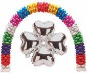 Folyo Balon Kalp Çiçek Modeli Gümüş 13ınc 1 Adet Fiyatıdır