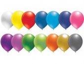 Balon Düz 12 İnc Karışık Renkli 25 Adet Fiyatıdır