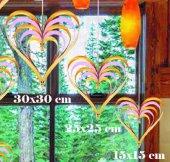 Süs Kalp Çıtçıtlı 3 Lü Set Altın Ve Pembe 1 Adet Fiyatıdır