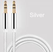 Altın Uçlu Araç içi Stereo Aux Kablo 1Mt 3.5mm Kaliteli Kablo-7