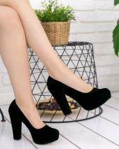 Nita Siyah Süet Platform Topuk Ayakkabı