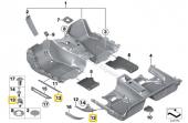 F30 KAPI Giriş Eşik şerit Klips 51477117532 HSK5591-6