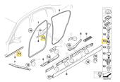 F30 KAPI Giriş Eşik şerit Klips 51477117532 HSK5591-9
