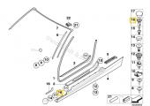 F30 KAPI Giriş Eşik şerit Klips 51477117532 HSK5591-11