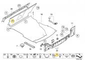 BMW Güneşlik A B C D Direği KOLTUK Pandizot Döşeme Klips HSK0183-5