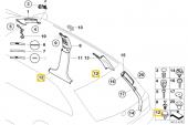BMW Güneşlik A B C D Direği KOLTUK Pandizot Döşeme Klips HSK0183-7