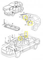 Audi A80 A100 A6 A8 Direk TAVAN Pandizot Klips 893867290-2