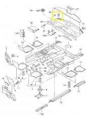 Audi A80 A100 A6 A8 Direk TAVAN Pandizot Klips 893867290-3