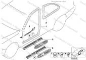 BMW E21-30-36 KAPI Eşiği PLAKA Marşbiyel Klips 51471840960-4