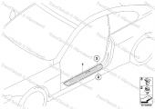 BMW E21-30-36 KAPI Eşiği PLAKA Marşbiyel Klips 51471840960-8