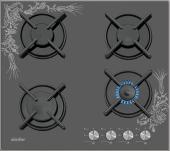 Simfer 3037 N Desenli Set Üstü Beyaz Cam Ocak Lpg