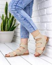 Kaiya Vizon Süet Sandalet-3