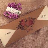 Kelebekli Düğün Davetiyesi Elt41451 100 Adet
