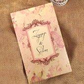 çiçekli Davetiye Elt41431 100 Adet