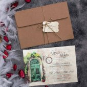 Sıradışı Romantik Düğün Davetiyesi Elt63653 100 Adet
