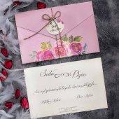 çiçekli Sade Düğün Davetiyesi Elt63664 100 Adet...