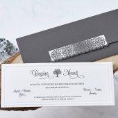 Sade Düğün Davetiyesi Eb1112 100 Adet