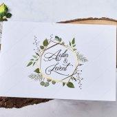 Kır Düğün Davetiyesi Eb1115 100 Adet