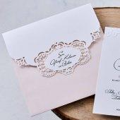 Lüks Düğün Davetiyesi Eb1118 100 Adet
