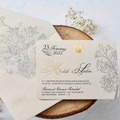 çiçekli Düğün Davetiyesi Eb1123 100 Adet