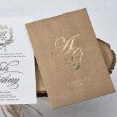 Kraft Düğün Davetiyesi Eb1132 100 Adet