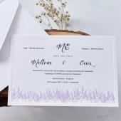 Lavanta Düğün Davetiyesi EB1141 - 100 Adet-2