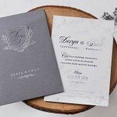 Mermer Düğün Davetiyesi EB1155 - 100 Adet-2