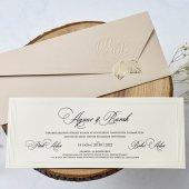 Çiçekli Zarif Düğün Davetiyesi EB1171 - 100 Adet