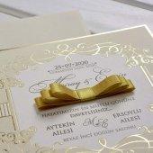 Kurdelalı Düğün Davetiyesi KL10512 - 100 Adet-2